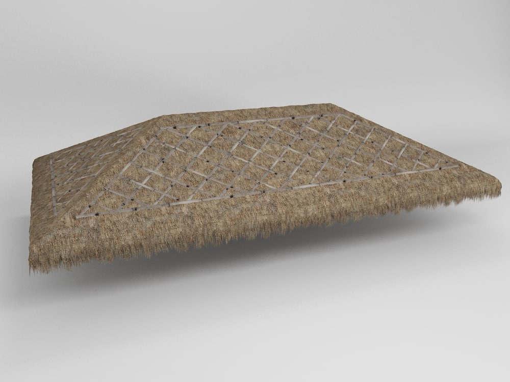 3d thatch roof model