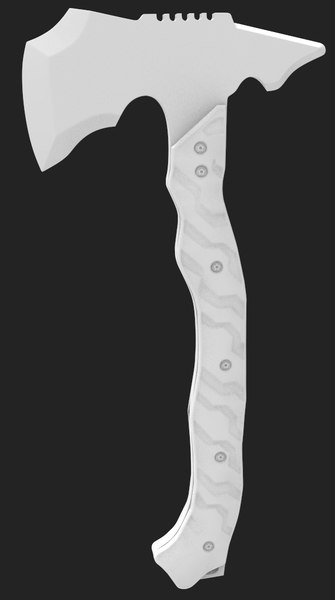 tomahawk tactical axe 3d model