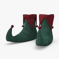 elf shoes 3d model