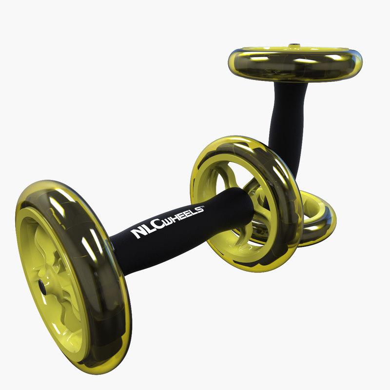 3d model ab trainer wheels