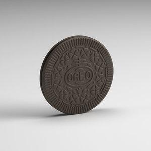 3d oreo cookie model