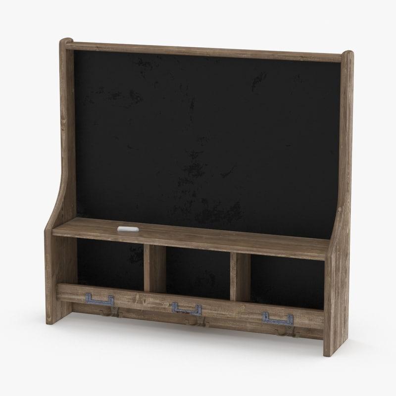 blackboard board black 3d max