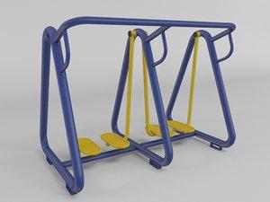outdoor fitness gym equipment 3d model