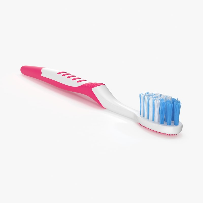 toothbrush 02 pink 3d ma