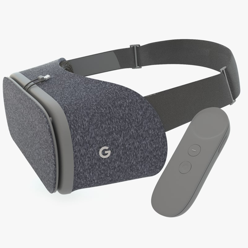 google daydream view vr 3d model