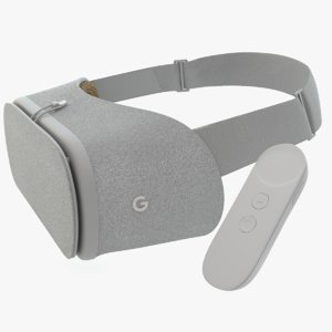 3d model google daydream view vr