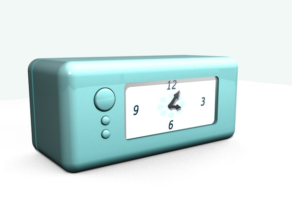 3d modern clock