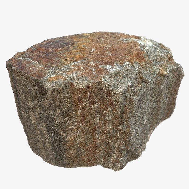 3d stone scan model
