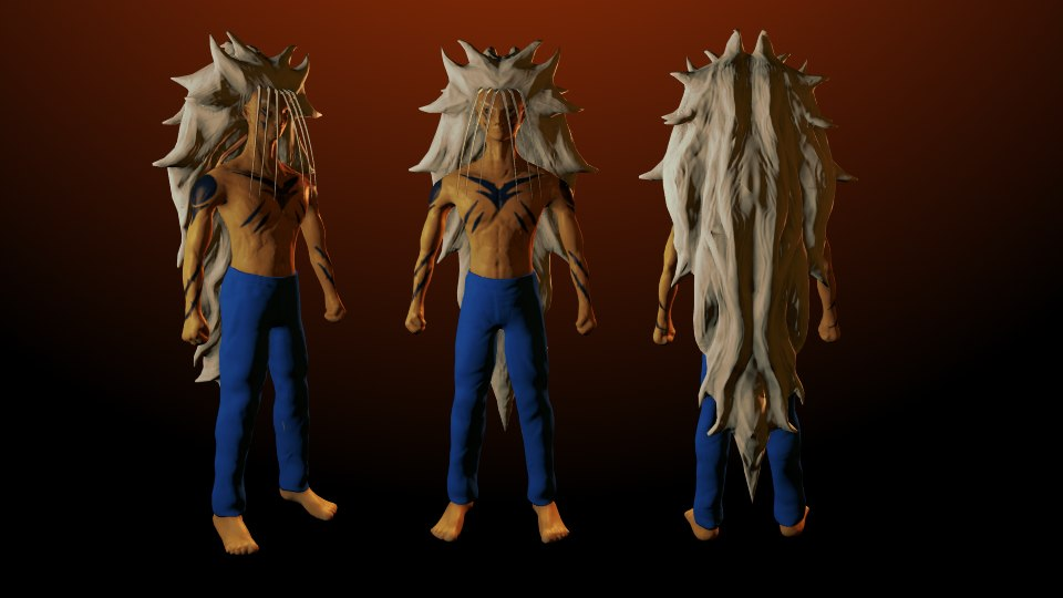 yusuke urameshi demon 3d model