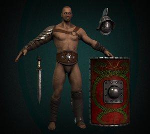 3d murmillo gladiator model