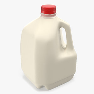 3d plastic milk bottle generic model