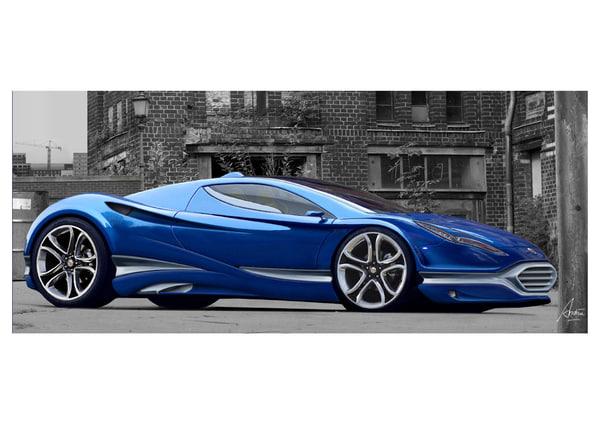 British Sport Car Design Concept