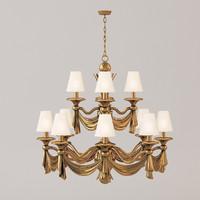 3d max classic ceiling lamp