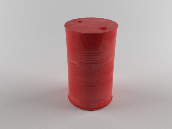 barrel red drum 3d model