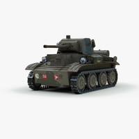 ww2 17 tetrarch light tank 3ds