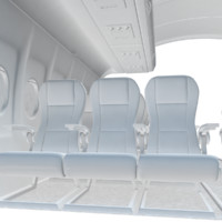 3d model air aircraft cabin