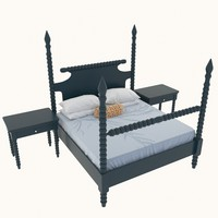 gwendoline spindle bed table 3d max