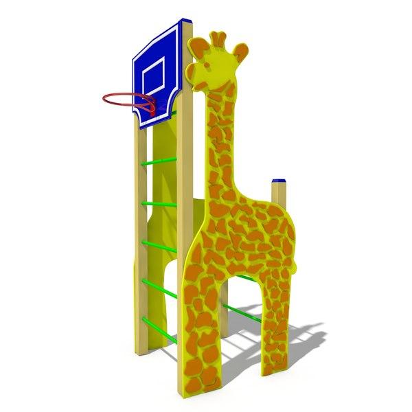 obj basketball giraffe