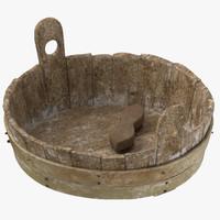3d medieval wash tub 01