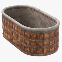 3d medieval wash tub 02