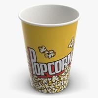 3d popcorn cup 1 model