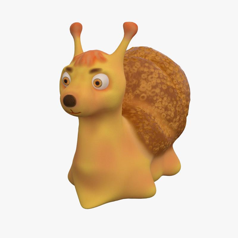 3d cartoon snail
