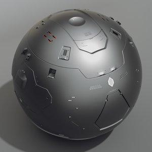 futuristic scaner 3d model