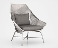 Huron Large Lounge Chair + Cushion  Gray by West Elm