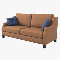 3d model estetica vegas sofa