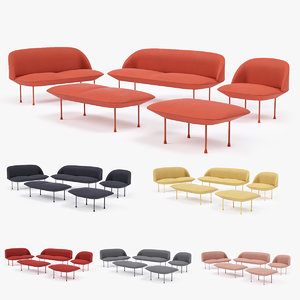 muuto oslo furniture set 3d model