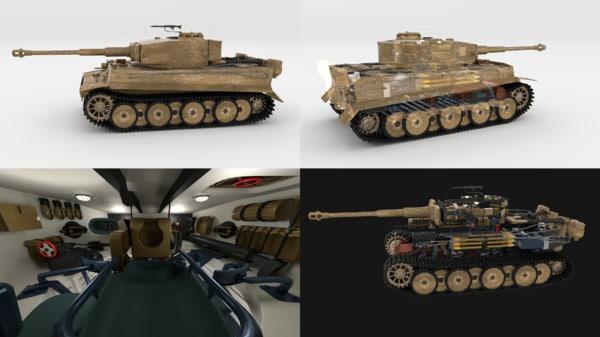 3d built tiger e early
