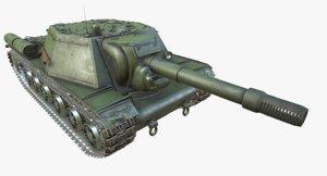 wwii tank su-152 psds max
