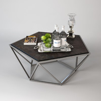 eichholtz coffee table pentagon 3d model