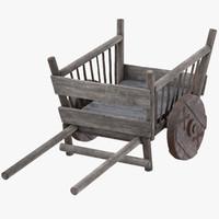 3d model hand cart