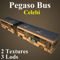 pegaso bus cel 3d model