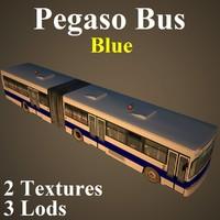 pegaso bus blue blu max