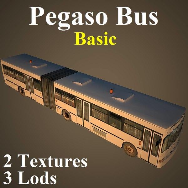 3d model pegaso bus basic