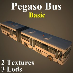 3d model pegaso bus basic