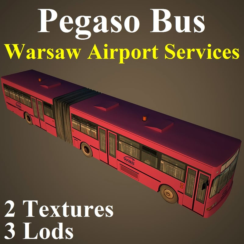 pegaso bus 3d max
