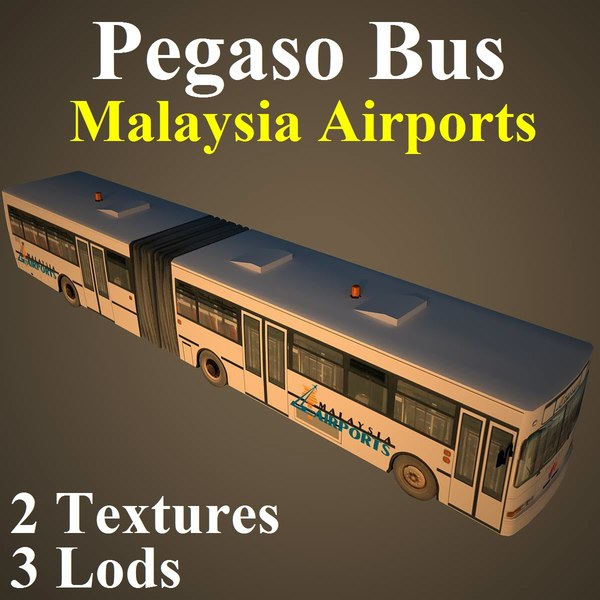 3d model pegaso bus mas