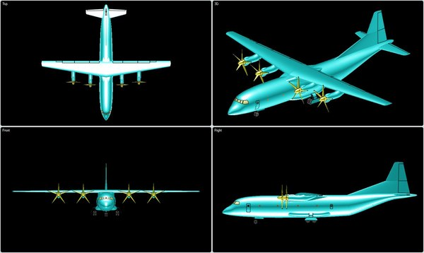 china y-9 transport aircraft 3ds