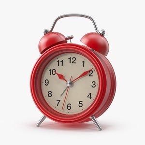 red modern alarm clock max
