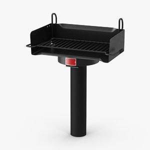 campground grill 3d model