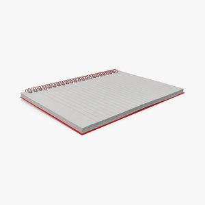 3d wire notebook model