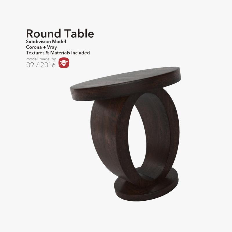 3d max stylish table