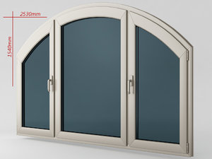 window casement plastic obj