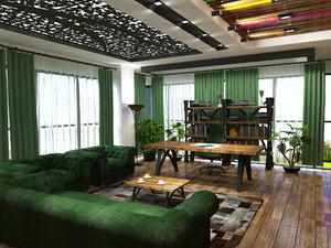 3d designing furniture work model