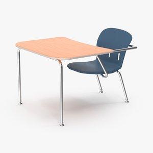 school desk 1 3d ma