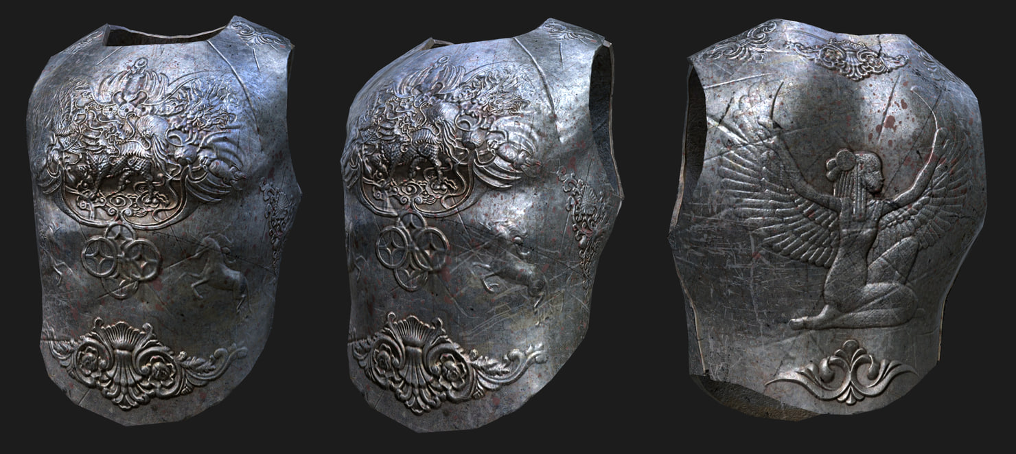 3d model armour medieva