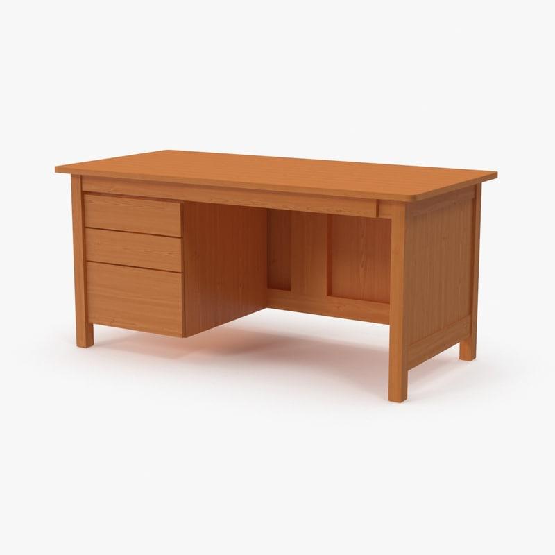 teacher desk 3d model